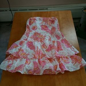 Lilly Pulitzer Elinor Tiers Strapless Dress